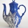 (uit de serie Hoofdzonden & Deugden) Luxuria (blauwe zijde) 2013, schildering op keramiek, hoogte 27 cm