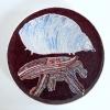 Lievelingsdieren (2013) schildering op keramiek, Ø 21 cm (particuliere collectie)