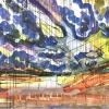 Maurice Christo van Meijel: zonder titel, 01-XII-2003, inkt, aquarel en kleurpotlood op papier, 121 x 171 cm (collectie CBK Groningen)