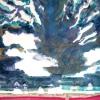 Maurice Christo van Meijel: zonder titel, 11-X-2002, aquarel, inkt en kleurpotlood op papier, 115 x 145 cm.