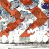 Maurice Christo van Meijel: zonder titel (serie Zwaar weer), 19-VIII-2003, olieverf en kleurpotlood op papier 49 x 41 cm.