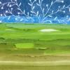 Maurice Christo van Meijel: zonder titel, IX 2009, aquarel en kleurpotlood op papier, 29 x 42 cm.