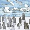 Maurice Christo van Meijel: zonder titel, 02-X-2011, aquarel en potlood op papier, 57 x 77 cm.