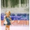 VERKOCHT Maurice Christo van Meijel: zonder titel, XII-2005, inkt en aquarel op handgeschept papier, 97 x 77 cm