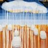 VERKOCHT Maurice Christo van Meijel: Waterlanders, 03-X-2010, aquarel en potlood op papier, 57 x 77 cm