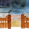 Maurice Christo van Meijel: It Will End In Tears, 2005, inkt en kleurpotlood op papier, 57 x 77 cm (particuliere collectie)
