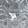 VERKOCHT Maurice Christo van Meijel: Oaf (# 2 uit Layla & Majnun), 2006, inkt en potlood op papier, 77 x 57 cm