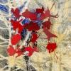 Natuur vertaald 21 (2016) mixed media op doek, 20 x 20 cm (particuliere collectie).