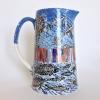 Gestreepte dijk (2015) onderglazuur op keramiek, hoogte 19 cm (particuliere collectie)
