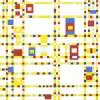 Mondriaan: Broadway Boogie Woogie, olieverf op doek, 127 x 127 cm. Museum of Modern Art, New York.