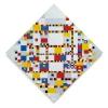 Mondriaan: Victor Boogie Woogie, olieverf op doek, 127 x 127 cm. Gemeentemuseum, Den Haag.