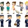 9222194-cartoon-flight-attendant-pilot-icon-stock-vector