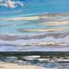 Lucht bij De Koog (12 VIII 2019) pastel op papier, 15 x 15 cm (lijst 20 x 20 cm)