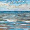 Noordzee bij De Koog (01 VIII 2020) pastel op papier, 15 x 15 cm (lijst 20 x 20 cm)