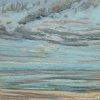 Noordzee bij De Koog (08 VIII 2020) pastel op papier, 15 x 15 cm (lijst 20 x 20 cm)
