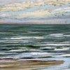 Noordzee bij De Koog (13 IX 2020) pastel op papier, 15 x 15 cm (lijst 20 x 20 cm)