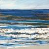Noordzee bij De Koog (15 VI 2021) pastel op papier, 15 x 15 cm (lijst 20 x 20 cm)
