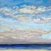 Noordzee bij De Koog (11 VII 2021) pastel op papier, 15 x 15 cm (lijst 20 x 20 cm)
