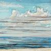 Noordzee bij De Koog (26 VII 2021) pastel op papier, 15 x 15 cm (lijst 20 x 20 cm)