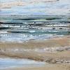 Noordzee bij De Koog (03 IX 2021) pastel op papier, 15 x 15 cm