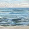 Noordzee bij De Koog (06 IX 2021) pastel op papier, 15 x 15 cm