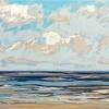 Noordzee bij De Koog (27 VI 2021) pastel, 23 x 70 cm.