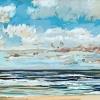 Noordzee bij De Koog (17 VII 2021) pastel, 23 x 70 cm.