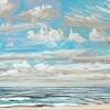 Noordzee bij De Koog (26 VII 2021) pastel, 23 x 70 cm.