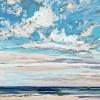 Noordzee bij De Koog (12 VIII 2021) pastel, 23 x 70 cm.
