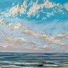 Noordzee bij De Koog (12 VIII 2020) pastel op papier, 24 x 32 cm (lijst 30 x 40 cm)