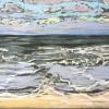 Strand bij De Koog (06 VII 2019) pastel op papier, 24 x 32 cm (lijst 30 x 40 cm)