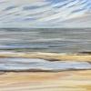 Strand bij De Koog (12 VII 2019) pastel op papier, 24 x 32 cm (lijst 30 x 40 cm)