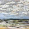 Strand bij De Koog (13 VII 2019) pastel op papier, 24 x 32 cm (lijst 30 x 40 cm)