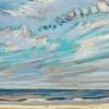 Strand bij De Koog (19 VII 2019) pastel op papier, 24 x 32 cm (lijst 30 x 40 cm)