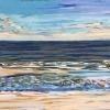 Strand bij De Koog (27 VII 2019) pastel op papier, 24 x 32 cm (lijst 30 x 40 cm)