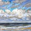 Strand bij De Koog (29 VII 2019) pastel op papier, 24 x 32 cm (lijst 30 x 40 cm)