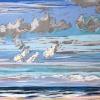 Strand bij De Koog (06 VIII 2019) pastel op papier, 24 x 32 cm (lijst 30 x 40 cm)