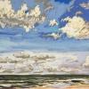Strand bij De Koog (20 VIII 2019) pastel op papier, 24 x 32 cm (lijst 30 x 40 cm)