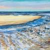 Strand bij De Koog (24 VIII 2019) pastel op papier, 24 x 32 cm (lijst 30 x 40 cm)