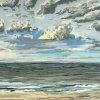 Noordzee bij De Koog (22 V 2020) pastel op papier, 24 x 32 cm (lijst 30 x 40 cm)