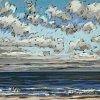 Noordzee bij De Koog (27 V 2020) pastel op papier, 24 x 32 cm (lijst 30 x 40 cm)