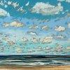 Noordzee bij De Koog (11 VII 2020) pastel op papier, 24 x 32 cm (lijst 30 x 40 cm)