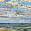Noordzee bij De Koog (17 VII 2020) pastel op papier, 24 x 32 cm (lijst 30 x 40 cm)