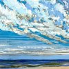 Noordzee bij De Koog (18 VII 2020) pastel op papier, 24 x 32 cm (lijst 30 x 40 cm)