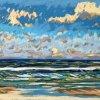 Noordzee bij De Koog (28 VII 2020) pastel op papier, 24 x 32 cm (lijst 30 x 40 cm)