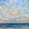 Noordzee bij De Koog (01 VIII 2020) pastel op papier, 24 x 32 cm (lijst 30 x 40 cm)