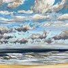 Noordzee bij De Koog (04 IX 2020) pastel op papier, 24 x 32 cm (lijst 30 x 40 cm)