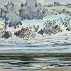 Noordzee bij De Koog (06 IX 2020) pastel op papier, 24 x 32 cm (lijst 30 x 40 cm)