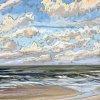 Noordzee bij De Koog (13 IX 2020) pastel op papier, 24 x 32 cm (lijst 30 x 40 cm)