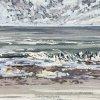 Noordzee bij De Koog (08 V 2021) pastel op papier, 24 x 32 cm (lijst 30 x 40 cm)